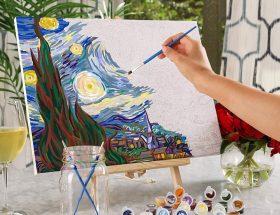 starry sky pictura pe numere pictorul fericit